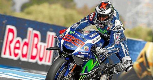 Jorge Lorenzo, durante el Gran Premio disputado en Jerez.