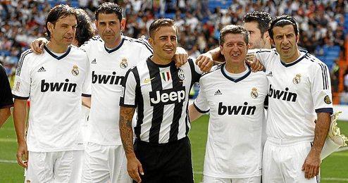 Cannavaro, en un partido de veteranos Madrid-Juventus.