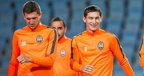 Taras Stepanenko entrenando con el Shakhtar.