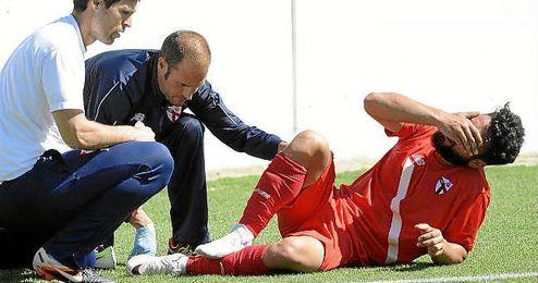 Ivi se retiró tras la celebración del gol de Curro.
