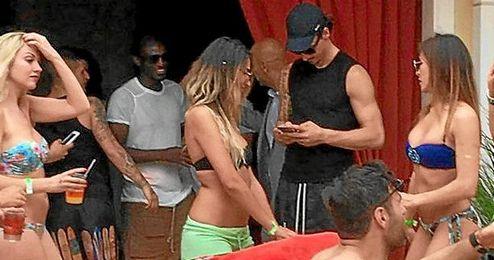 Los jugadores estarían disfrutando de la fiesta en el hotel Encore de Las Vegas como parte sus mini-vacaciones.