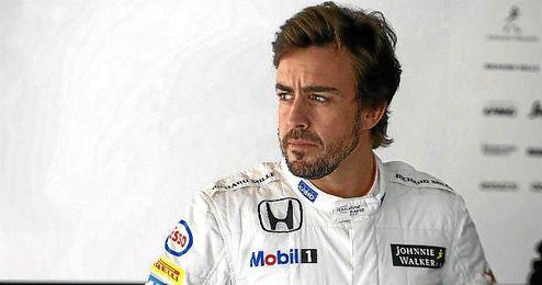 Fernando Alonso, durante el GP de China.