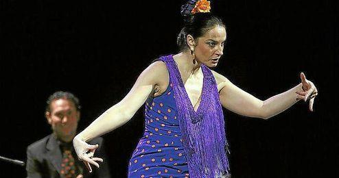 Pilar Astola, durante su espect�culo �Cr�nicas de urgencia�.