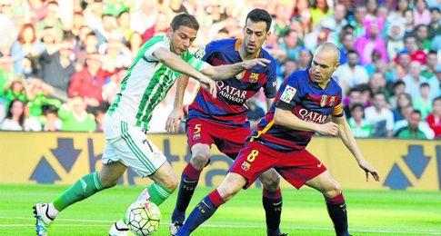 Joaquín, ante el Barcelona.
