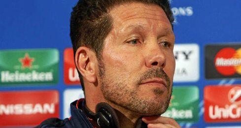 Simeone, en la rueda de prensa previa al duelo con el Bayern.