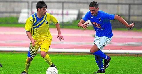 En la imagen, un lance del San José-Nervión disputado en la primera vuelta, que acabó 2-3.