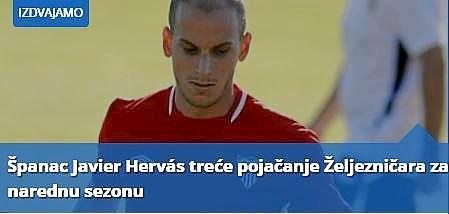 As� anuncia el Zeljeznicar el fichaje de Herv�s.