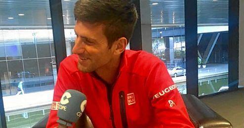 Novak Djokovic en los micrófonos de COPE en el día de ayer.