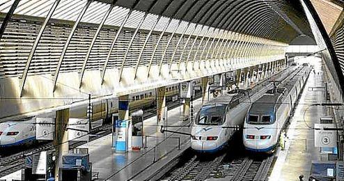 Imagen de la estación de Santa Justa.