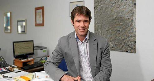 El delegado de Deportes del Ayuntamiento de Sevilla, José Luis David Guevara, durante una visita reciente a la redacción de ESTADIO Deportivo.