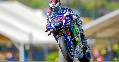 Lorenzo, intratable sobre el circuito de Le Mans.