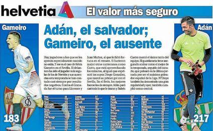 Adán, el salvador; Gameiro, el ausente