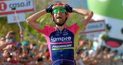 Ulissi ha ganado, a sus 26 años, su quinta etapa en un Giro de Italia.