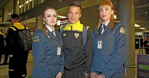Konoplyanka, recibido en el aeropuerto de Lviv como una estrella, se está esforzando para ganarse esa categoría también en España.