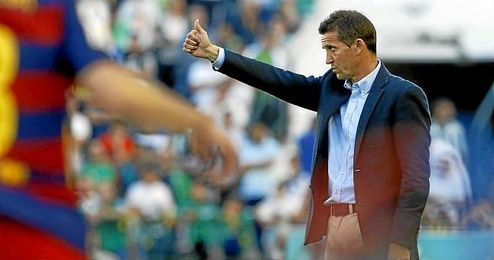 Merino, en el último partido en casa ante el Barcelona.