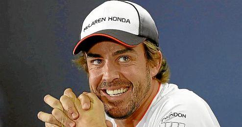 Alonso en rueda de prensa