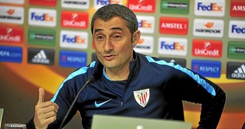 Valverde en rueda de prensa
