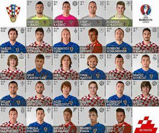 La lista provisional de 27 jugadores de Croacia.