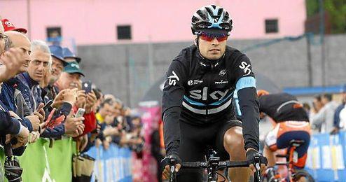 El ciclista español del equipo Sky Mikel Landa.