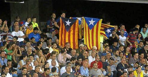 Las banderas esteladas no están permitidas por la Ley del Deporte.