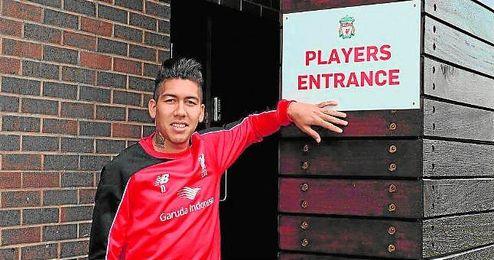 """Firmino destac� del Sevilla lo """"r�pido que mueve la pelota"""" y reivindic� el """"equilibrio"""" de la plantilla del Liverpool."""