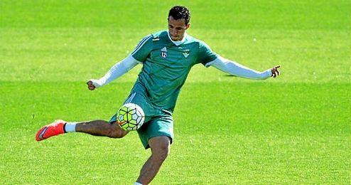 Leandro Damiao, durante un entrenamiento en Heliópolis.