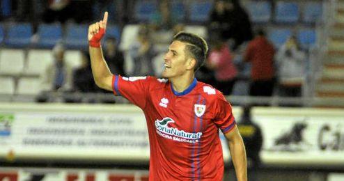 Alex Alegría suma 11 goles con el Numancia.