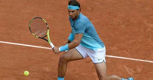 """""""Estoy muy contento de estar aquí en Roland Garros otra vez"""", ha dicho Nadal."""