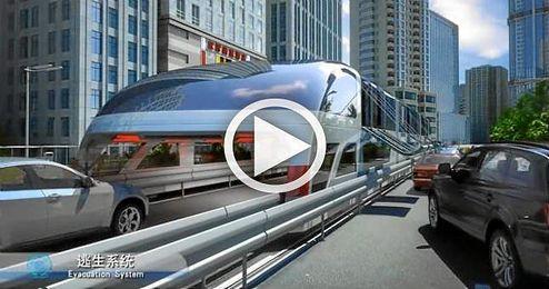 El proyecto se presentó el nuevo concepto del ´autobús del futuro´ durante una exposición internacional de alta tecnología.