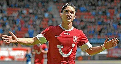 Felipe Guti�rrez, en un partido con el Twente.