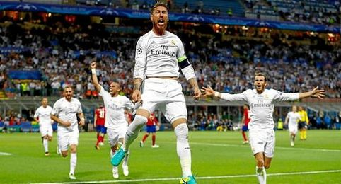 Ramos anotó el gol de los blancos en el tiempo reglamentario.