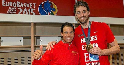 """""""Desafortunadamente las lesiones son parte del deporte, pero estoy seguro de que se recuperará bien"""", dijo Gasol."""