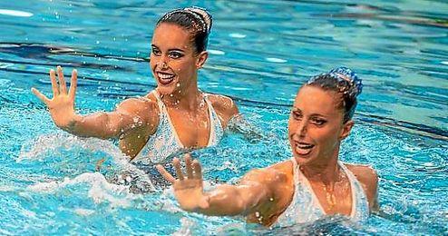 Carbonell y Mengual durante la competición