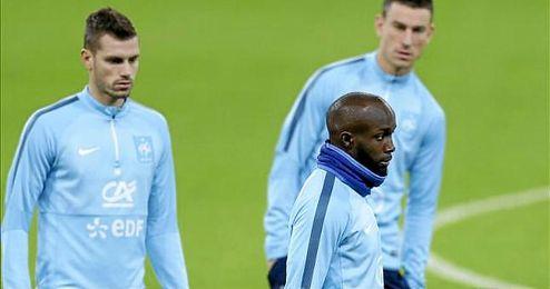 Diarra y Schneiderlin en un entrenamiento de la selección francesa.