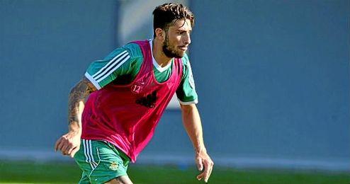 Piccini, durante una sesión de trabajo en la Ciudad Deportiva Luis del Sol.