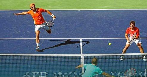 A la semifinal de dobles con Feliciano y Marc López