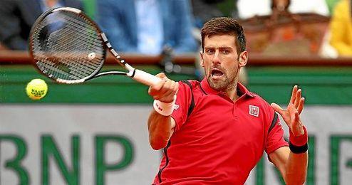 Djokovic durante el encuentro