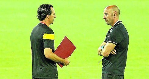 Monchi y Emery están de acuerdo en muchas cosas y en otras, no.