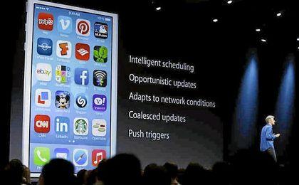 Una de las presentaciones de iOS.