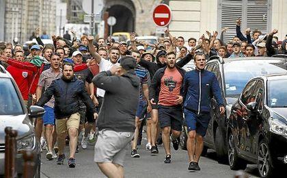 La facci�n de los ultras rusos durante la Eurocopa, de las m�s peligrosas.