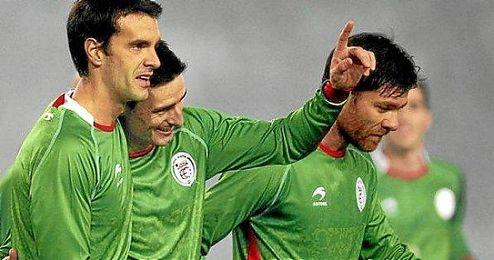 Aduriz, Xabi Prieto y Alonso.