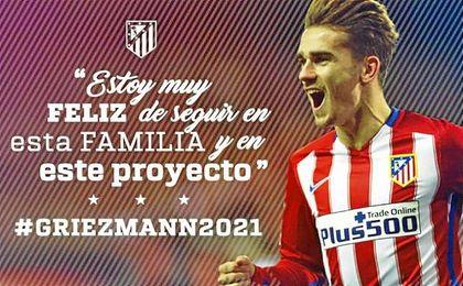 El Atlético de Madrid lo ha anunciado este jueves.