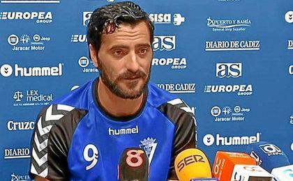 Dani Güiza en sala de prensa
