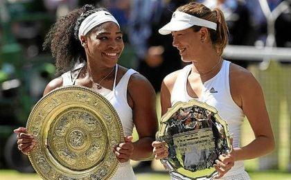 Garbi�e y Serena ya se enfrentaron en la final de Wimbledon de 2015.