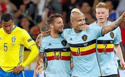 Nainggolan marcó en el último partido de Bélgica ante Suecia.