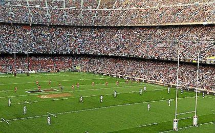 El partido supone el récord de asistencia a un encuentro de rugby en toda su historia.