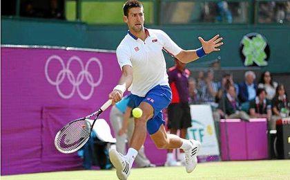 Djokovic disputando los anteriores Juegos Olímpicos de Londres