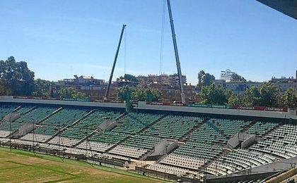 Imagen del Gol Sur del Estadio Benito Villamarín.