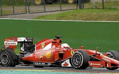 Vettel fue tercero en la primera sesión de entrenamientos del viernes.