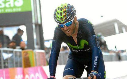 Valverde fue tercero en la etapa.